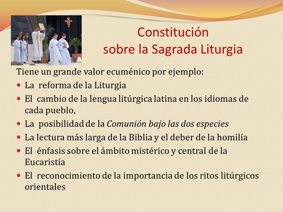 Constitución sobre la Sagrada Liturgia