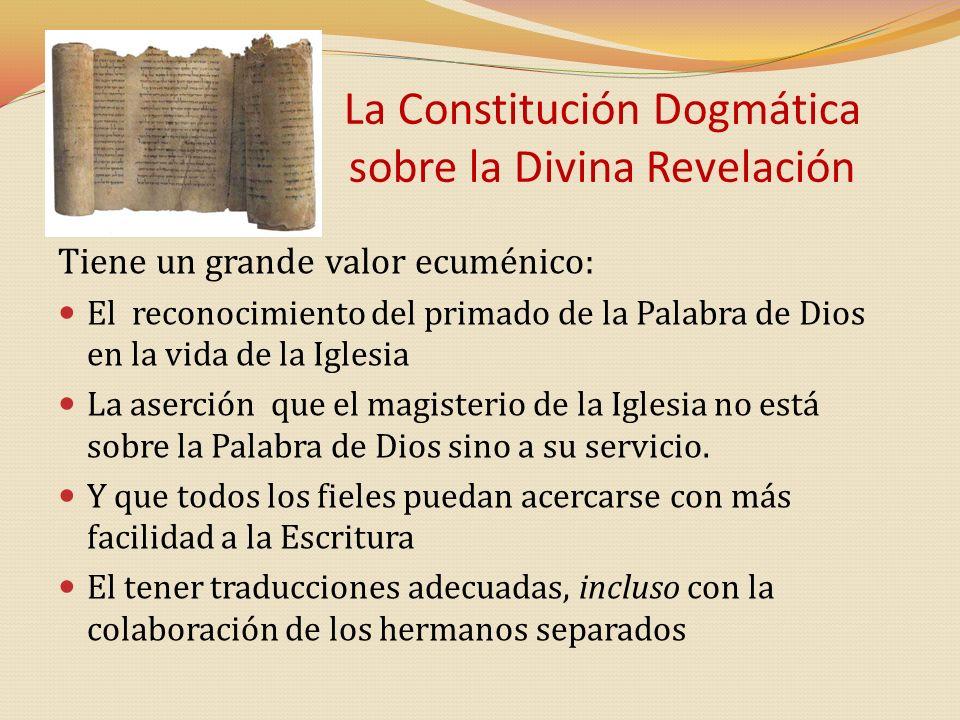 La Constitución Dogmática sobre la Divina Revelación