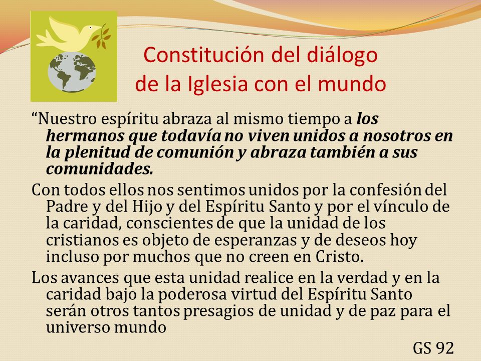 Constitución del diálogo de la Iglesia con el mundo