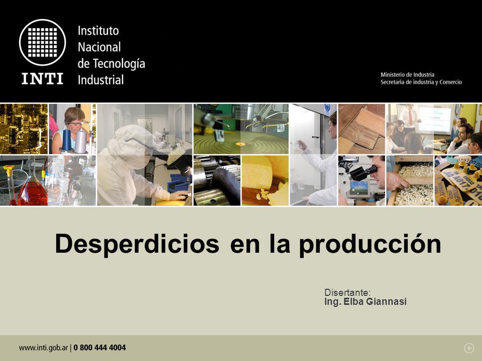 Desperdicios en la producción
