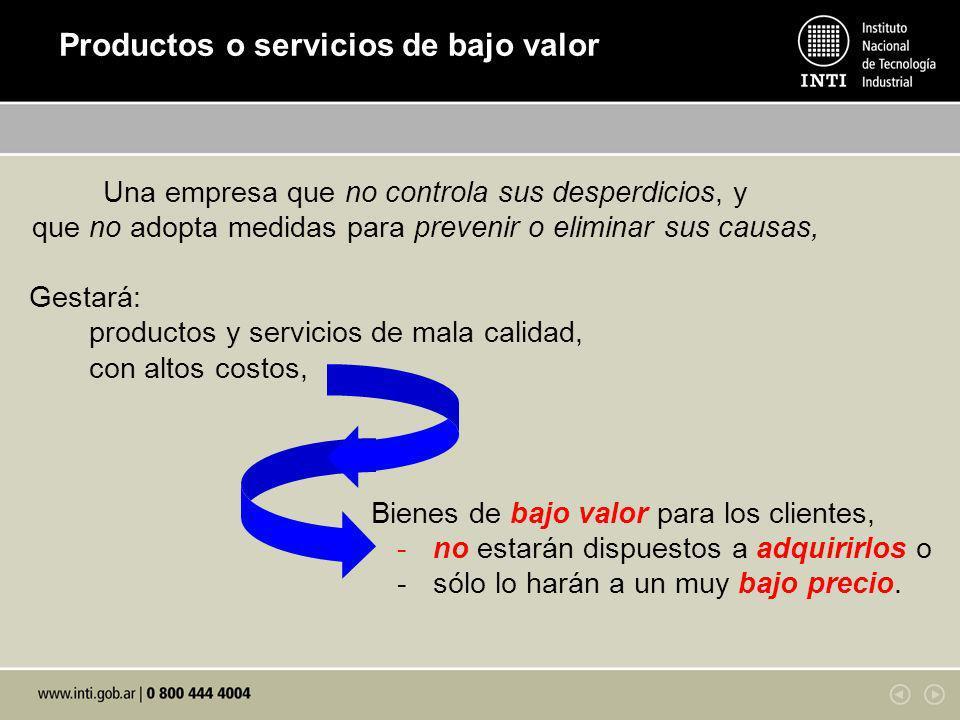 Productos o servicios de bajo valor