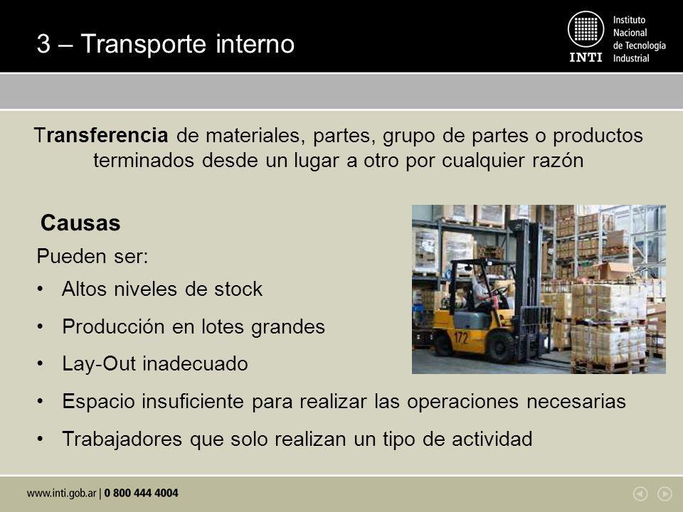 3 – Transporte interno Causas