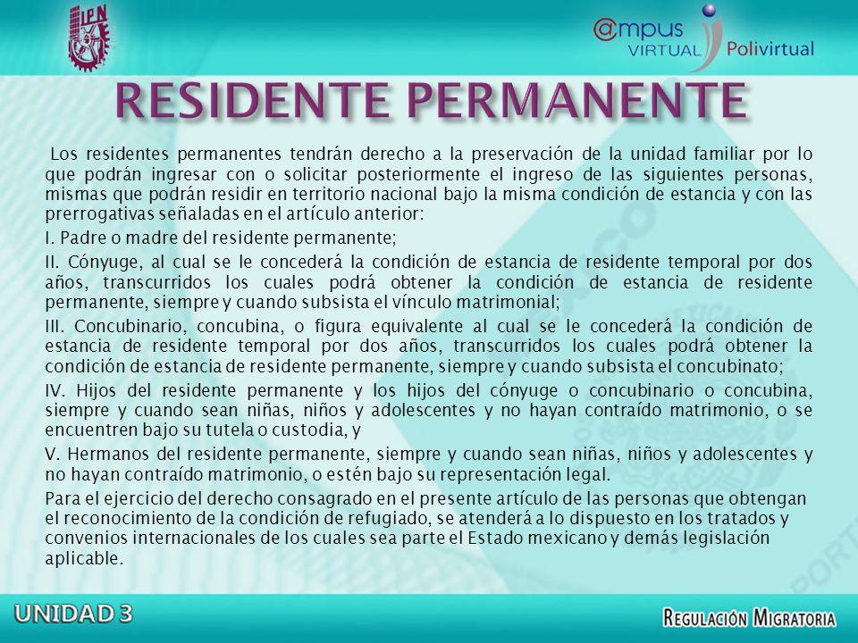 RESIDENTE PERMANENTE