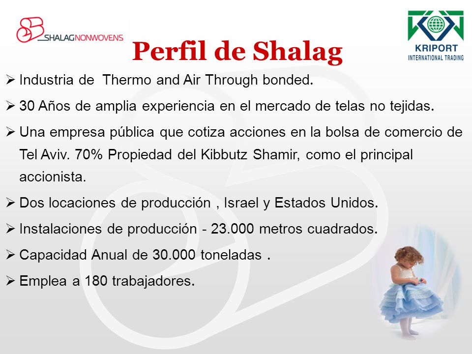 Perfil de Shalag Industria de Thermo and Air Through bonded.