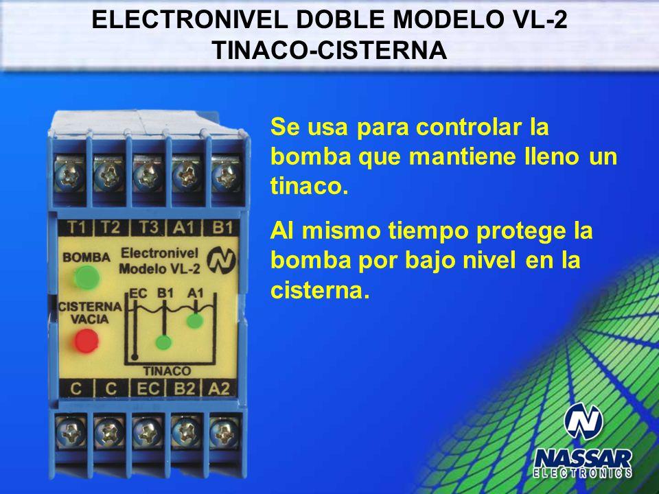 ELECTRONIVEL DOBLE MODELO VL-2 TINACO-CISTERNA