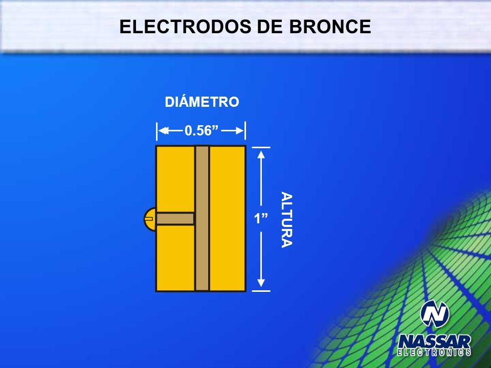 ELECTRODOS DE BRONCE DIÁMETRO 0.56 ALTURA 1