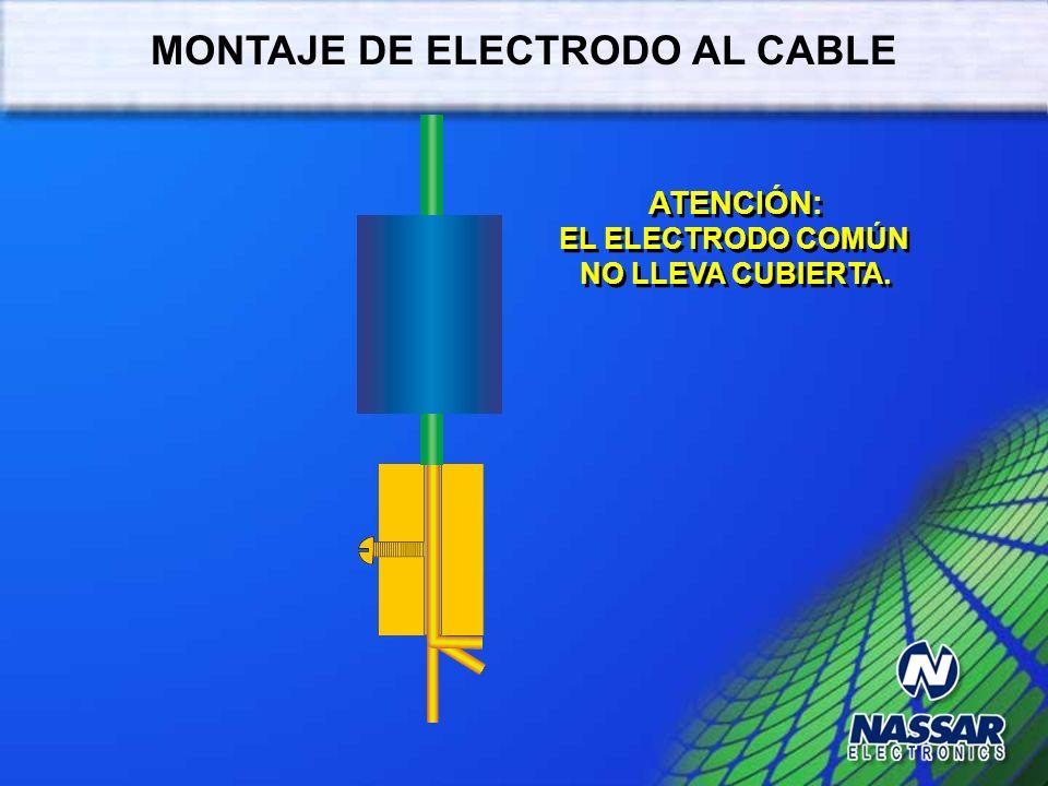 MONTAJE DE ELECTRODO AL CABLE