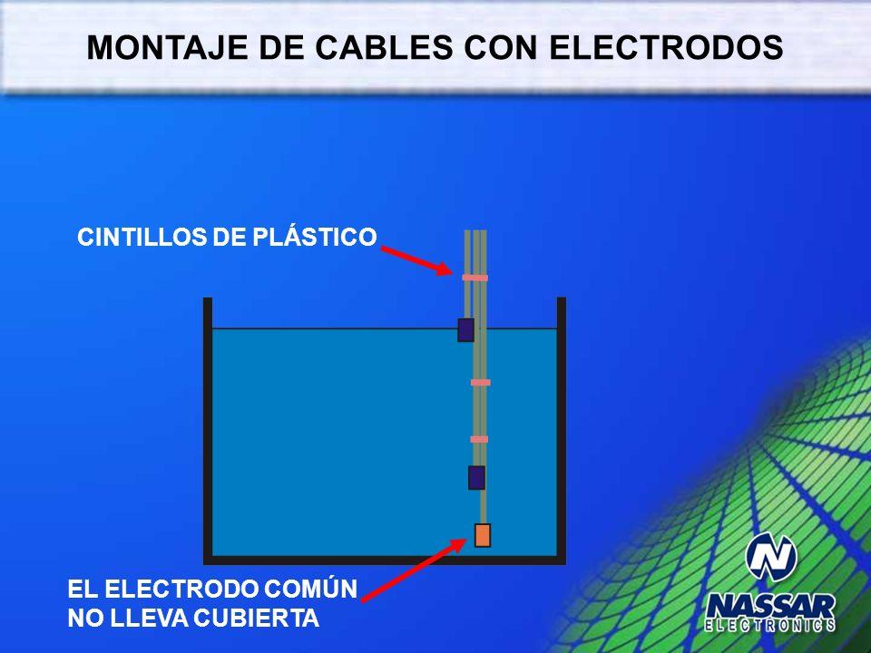 MONTAJE DE CABLES CON ELECTRODOS