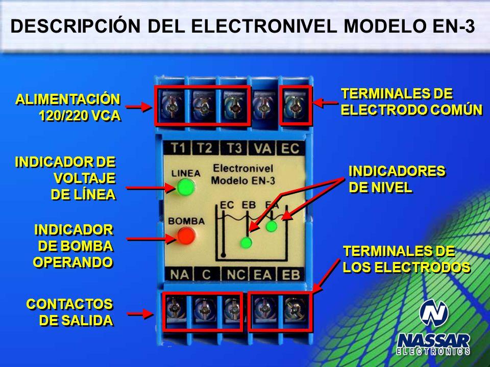 DESCRIPCIÓN DEL ELECTRONIVEL MODELO EN-3