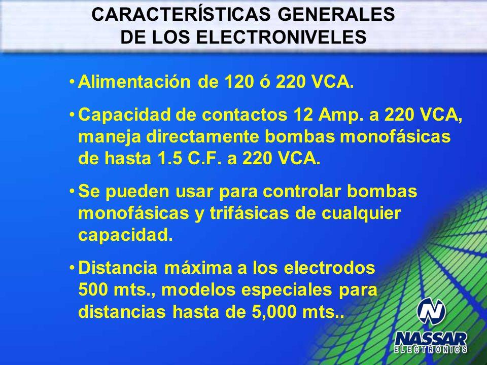 CARACTERÍSTICAS GENERALES DE LOS ELECTRONIVELES