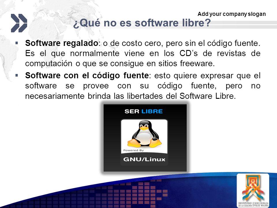 ¿Qué no es software libre