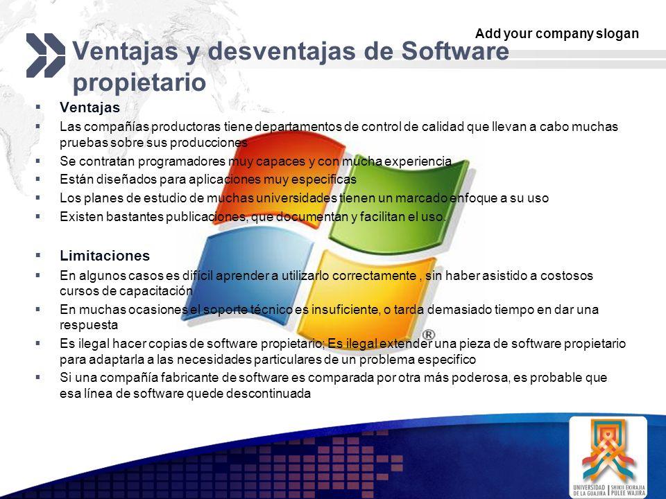 Ventajas y desventajas de Software propietario