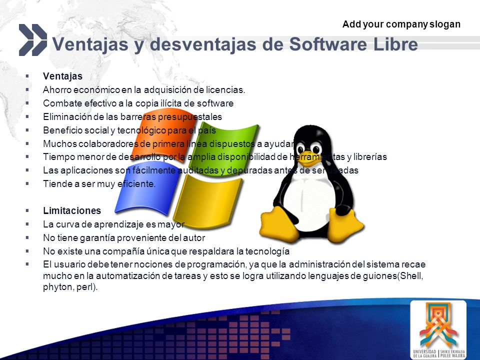 Ventajas y desventajas de Software Libre