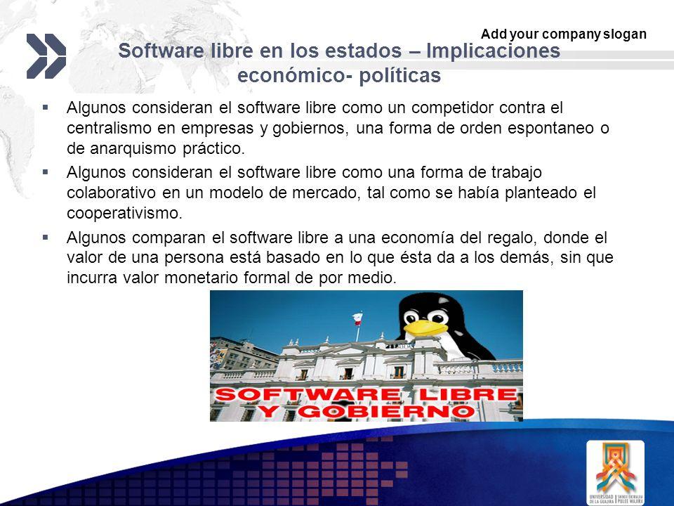 Software libre en los estados – Implicaciones económico- políticas