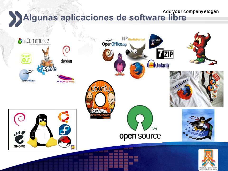 Algunas aplicaciones de software libre