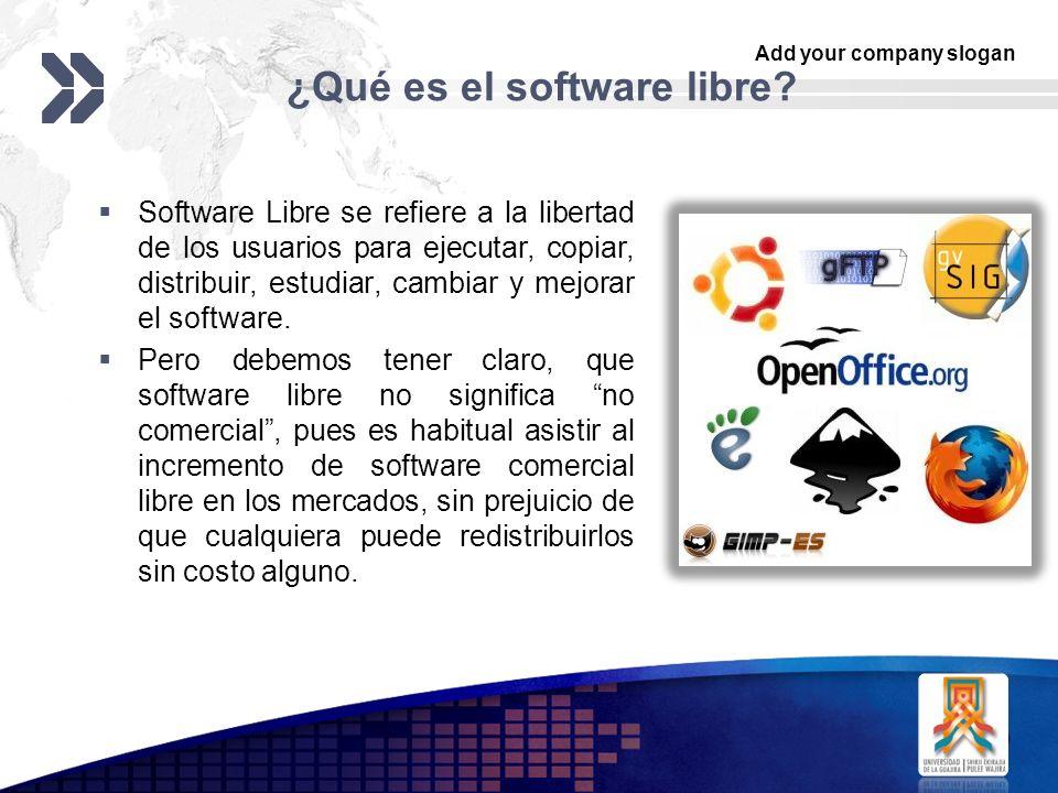 ¿Qué es el software libre