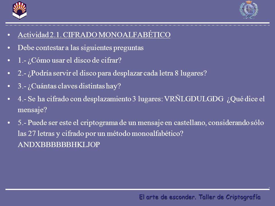Actividad 2.1. CIFRADO MONOALFABÉTICO