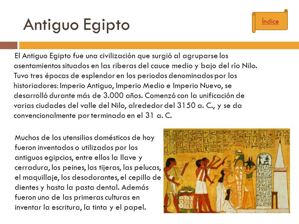 Antiguo Egipto Índice.