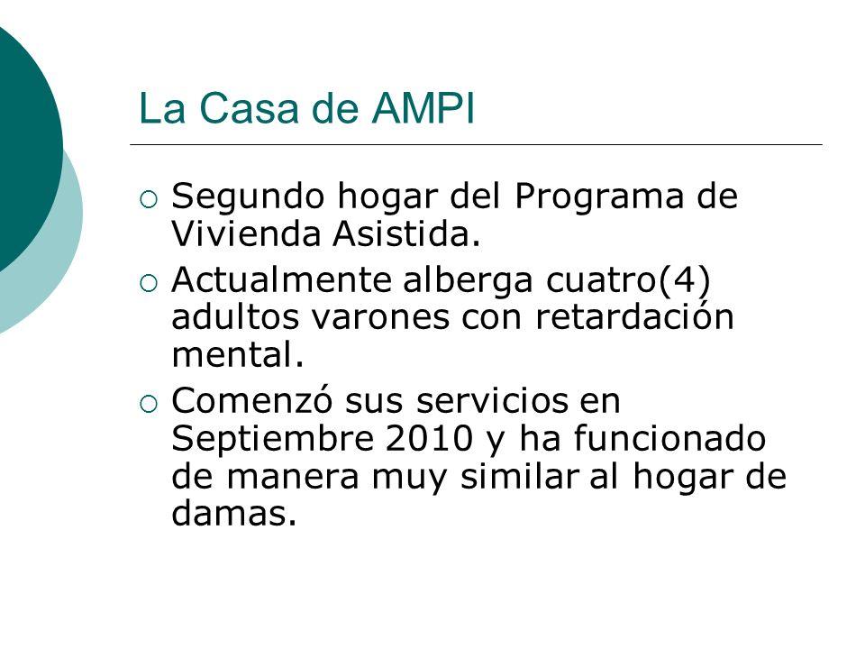 La Casa de AMPI Segundo hogar del Programa de Vivienda Asistida.