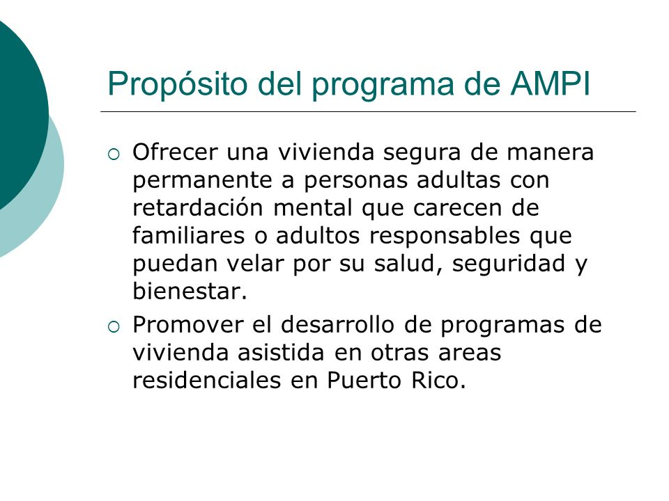 Propósito del programa de AMPI