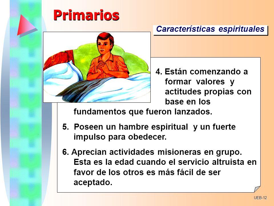 Primarios Características espirituales