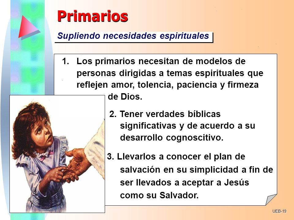 Primarios Supliendo necesidades espirituales