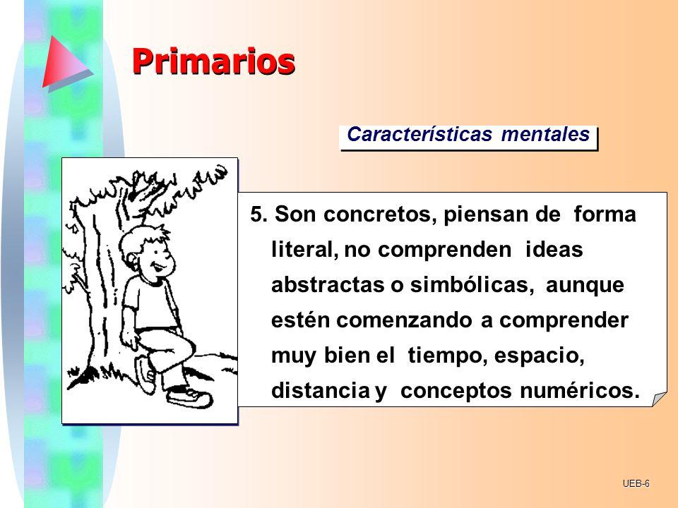 PrimariosCaracterísticas mentales.