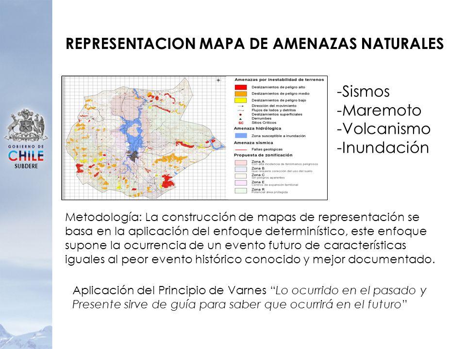REPRESENTACION MAPA DE AMENAZAS NATURALES