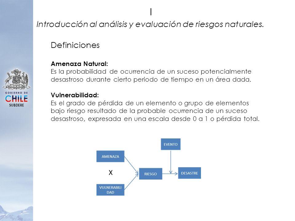I Introducción al análisis y evaluación de riesgos naturales.