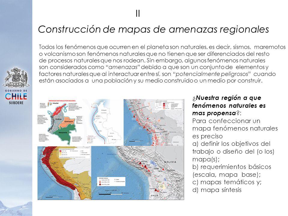 Construcción de mapas de amenazas regionales