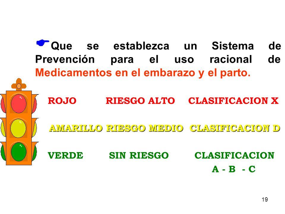 AMARILLO RIESGO MEDIO CLASIFICACION D
