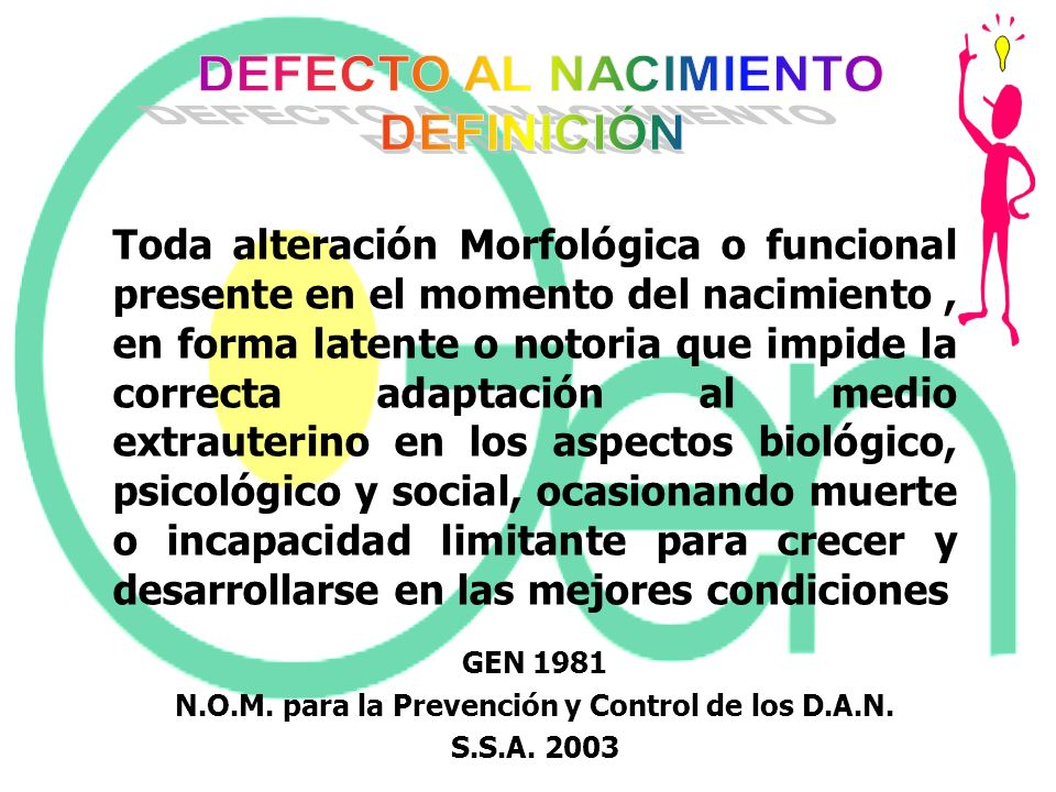 N.O.M. para la Prevención y Control de los D.A.N.