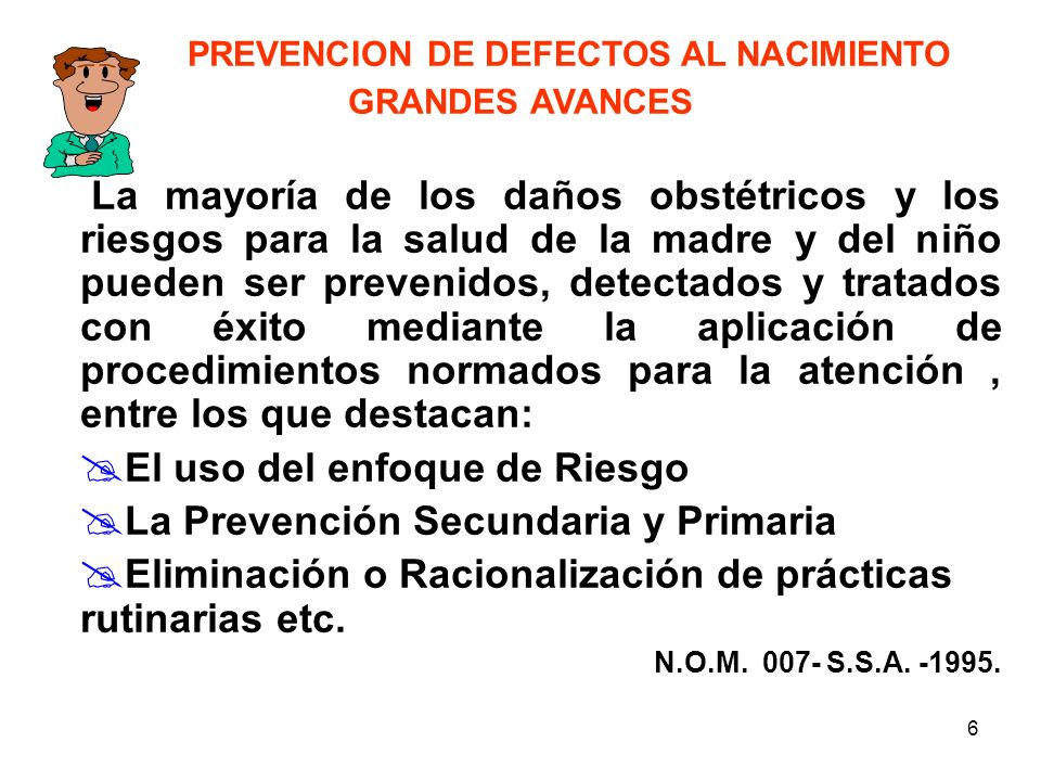 PREVENCION DE DEFECTOS AL NACIMIENTO