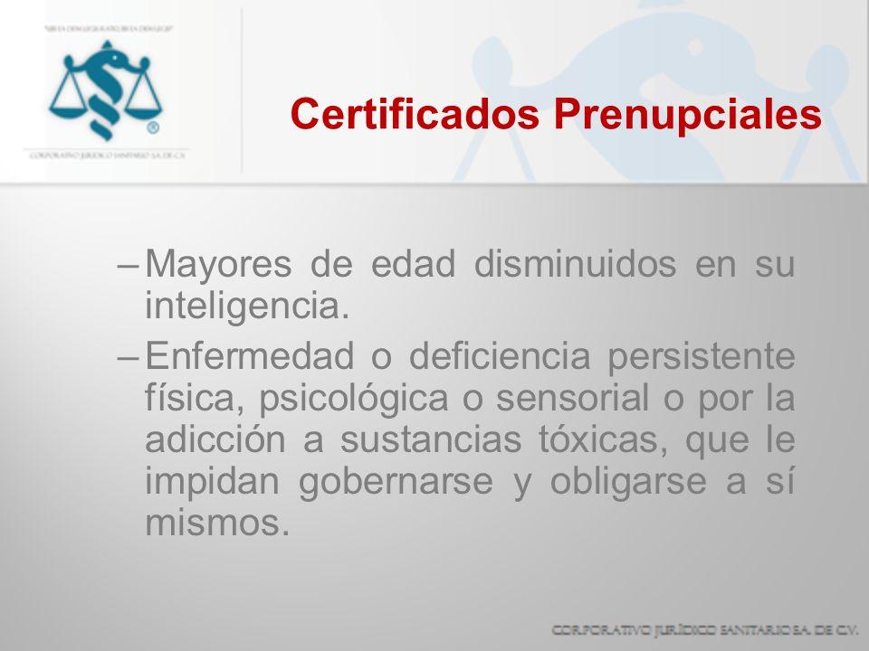 Certificados Prenupciales