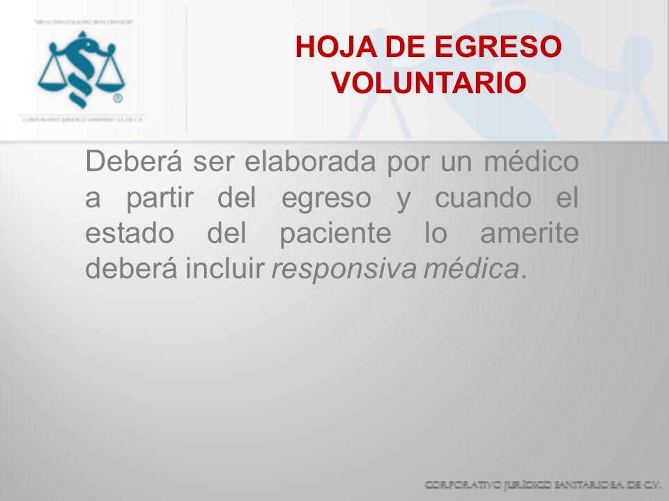 HOJA DE EGRESO VOLUNTARIO