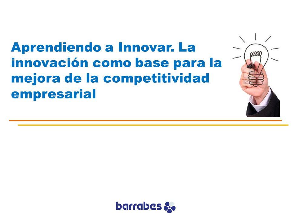 Aprendiendo a Innovar. La innovación como base para la mejora de la competitividad empresarial