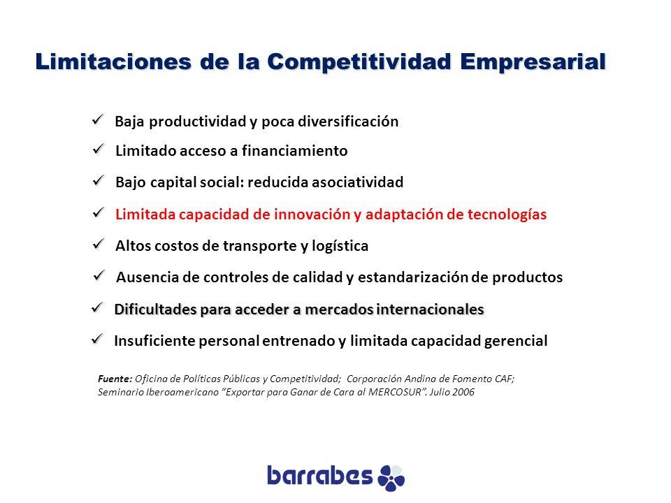 Limitaciones de la Competitividad Empresarial