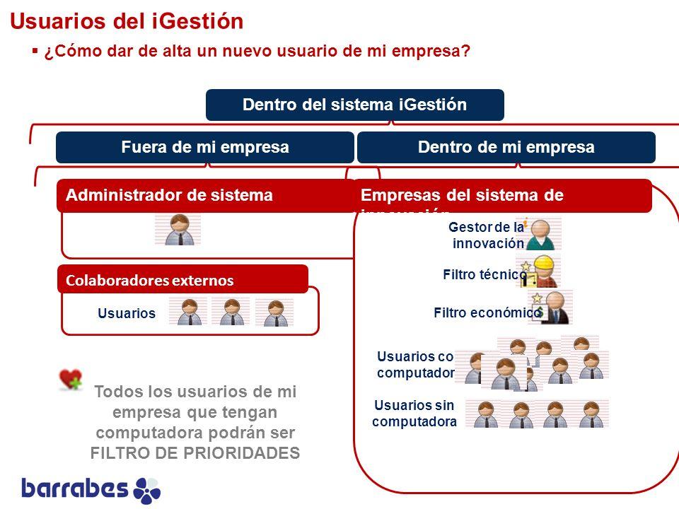 Usuarios del iGestión ¿Cómo dar de alta un nuevo usuario de mi empresa Dentro del sistema iGestión.