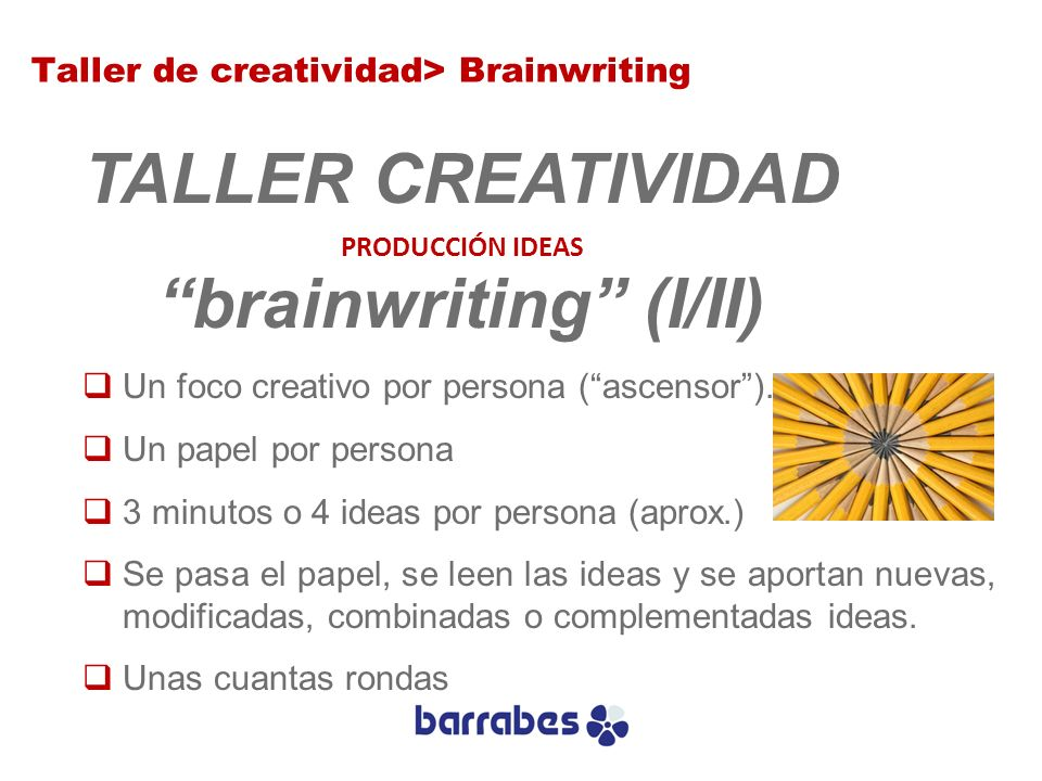 brainwriting (I/II)