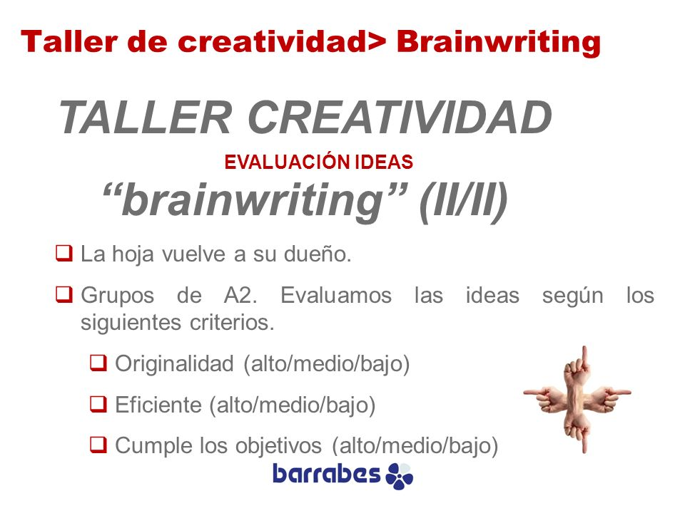 brainwriting (II/II)