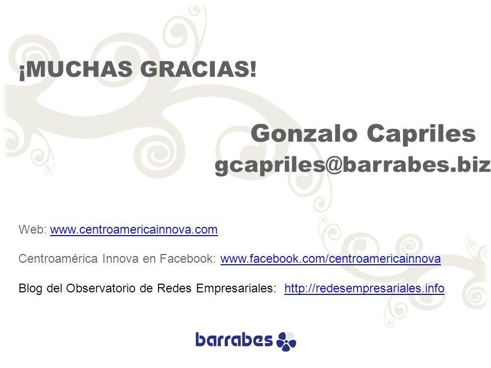 ¡MUCHAS GRACIAS! gcapriles@barrabes.biz Gonzalo Capriles