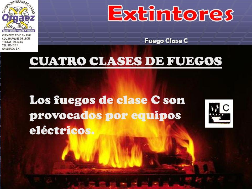 CUATRO CLASES DE FUEGOS