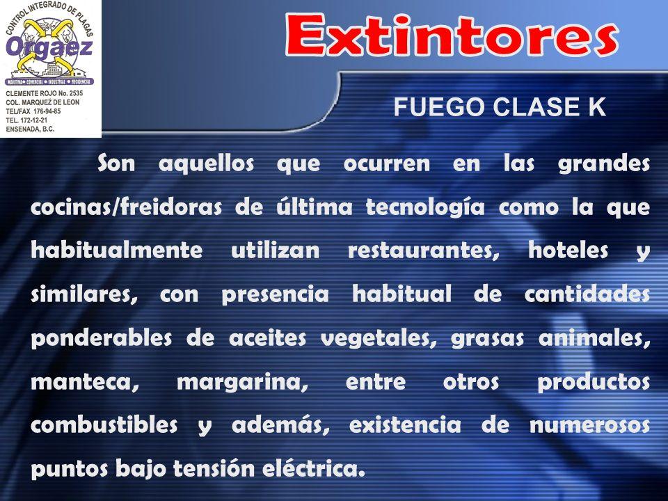 Extintores FUEGO CLASE K