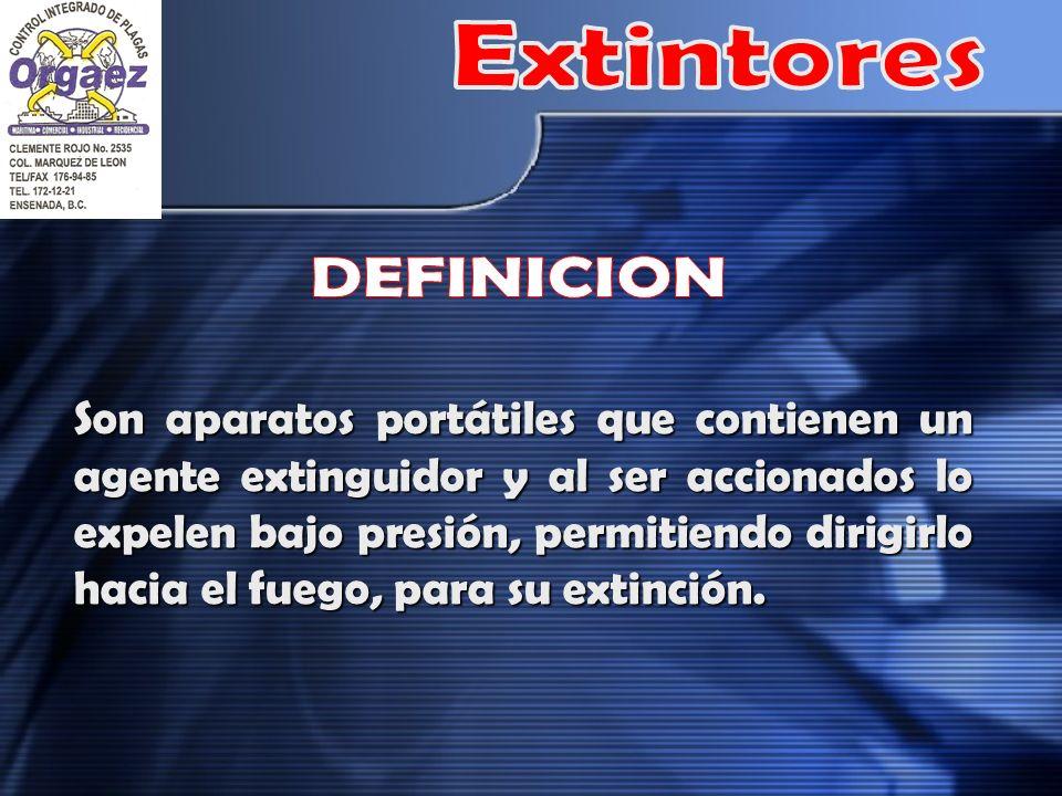 Extintores DEFINICION
