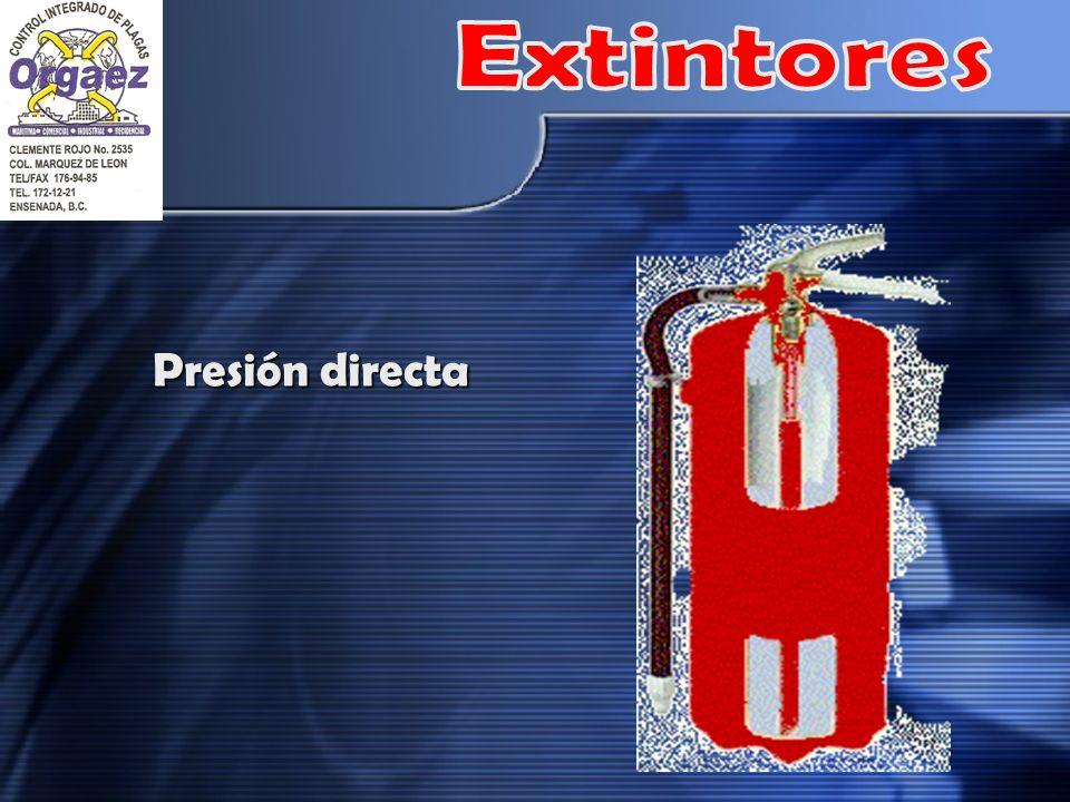 Extintores Presión directa