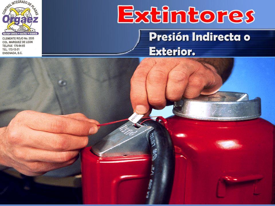 Extintores Presión Indirecta o Exterior.