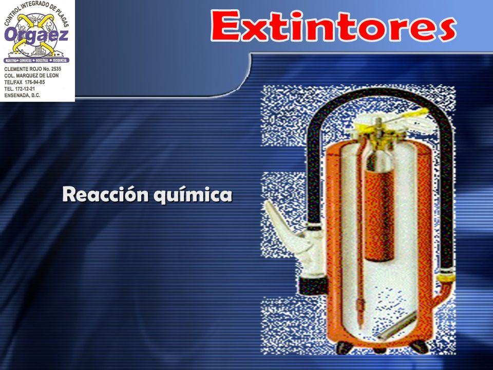 Extintores Reacción química