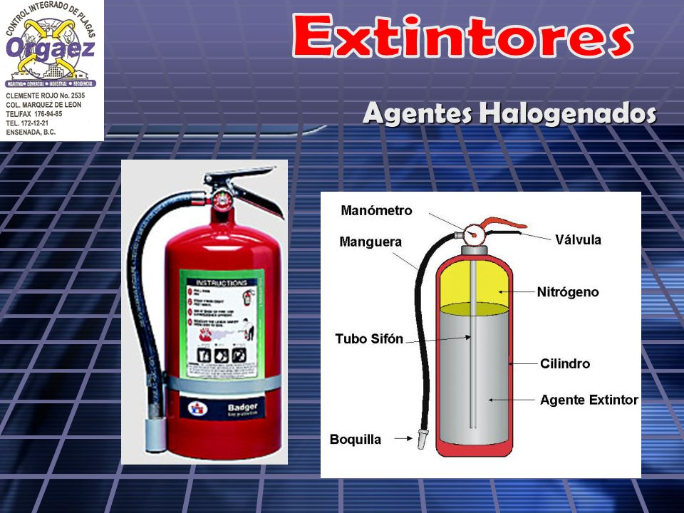 Extintores Agentes Halogenados