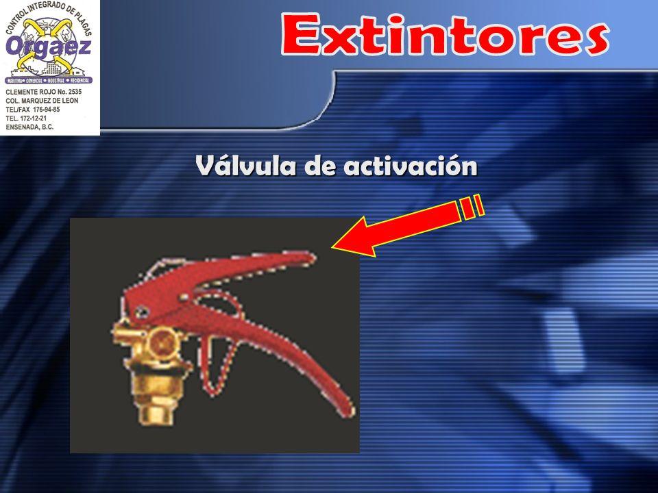 Extintores Válvula de activación