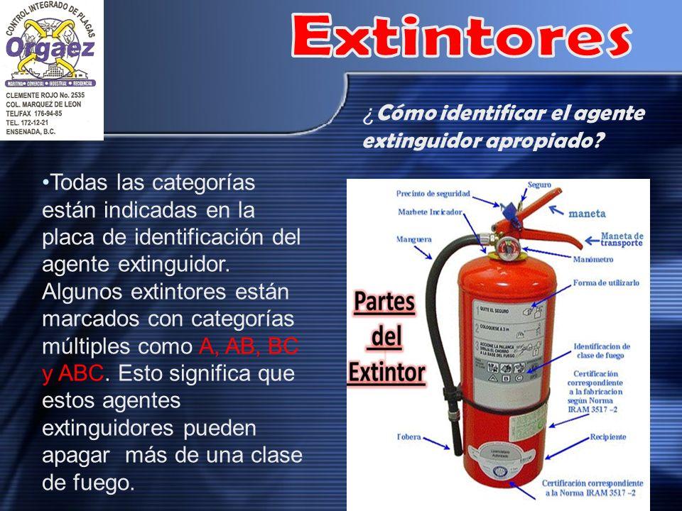 Extintores ¿Cómo identificar el agente extinguidor apropiado
